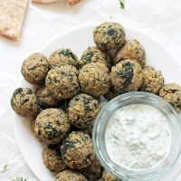 Greek Vegetarian Meatballs