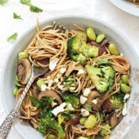 Spicy Soba Noodle Vegetable Stir-Fry
