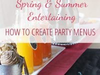 Let's talk how to create party menus, specifically for warm weather! With a general template for casual spring & summer parties, helpful tips and recipe ideas!