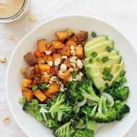 Peanut Chickpea Sweet Potato Bowls