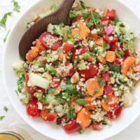 Crunchy Summer Veggie Quinoa Salad