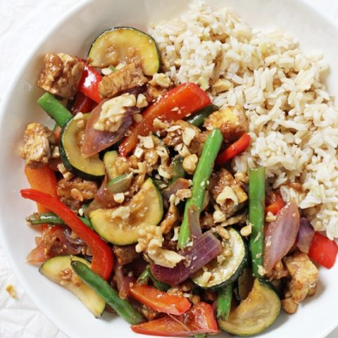 Garlic Ginger Summer Veggie Stir-Fry