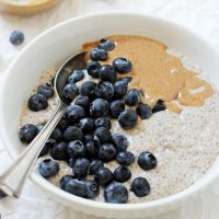 Blueberry Almond Butter Chia Pudding