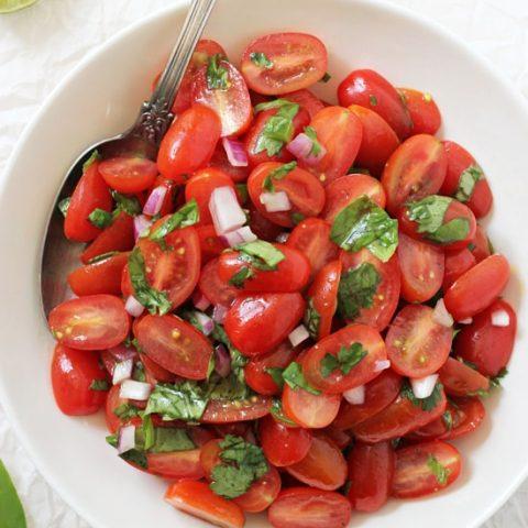 Fresh Cherry Tomato Salsa