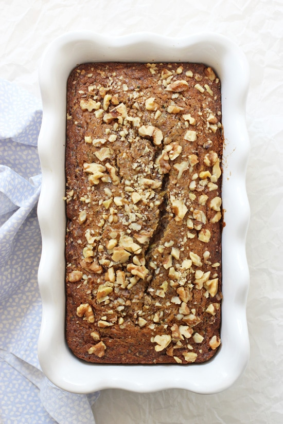 Irresistible orange poppy seed zucchini bread! Studded with plenty of shredded zucchini, poppy seeds, vanilla and orange zest! Moist, fluffy and easy to make!