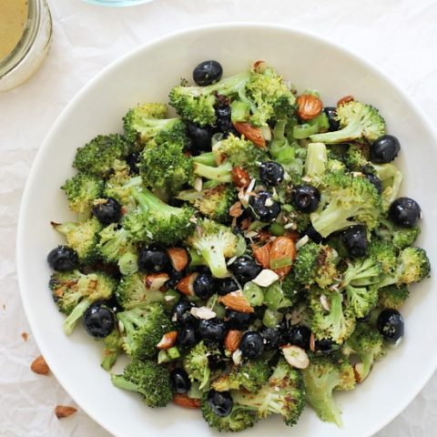 Roasted Broccoli Salad with Blueberries