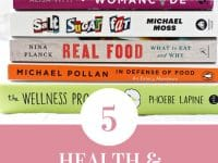 A collection of 5 health and wellness books to read this fall! Cozy up with some good books this season for plenty of tips & ideas to improve your health, diet and daily life!