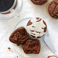 Healthy Pumpkin Gingerbread Muffins