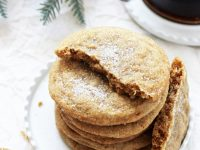 Soft & chewy cardamom spice cookies! These easy cookies taste like a cross between a classic sugar cookie and a snickerdoodle! Perfect for christmas and the holidays! And dairy free!
