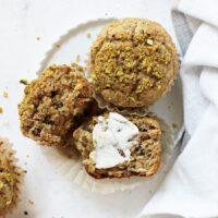 Healthier Pistachio Muffins