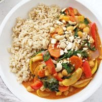 Coconut Chickpea Curry with Peanut Butter
