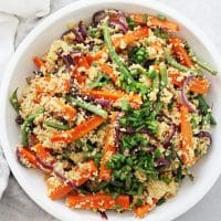 Vegan Couscous Salad with Roasted Vegetables