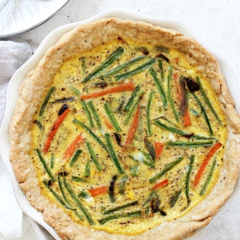 Veggie Packed Dairy Free Quiche