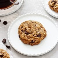 Coconut Oil Oatmeal Cookies