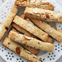 Vanilla Almond Vegan Biscotti
