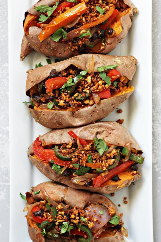 Vegan Stuffed Sweet Potatoes Cook Nourish Bliss