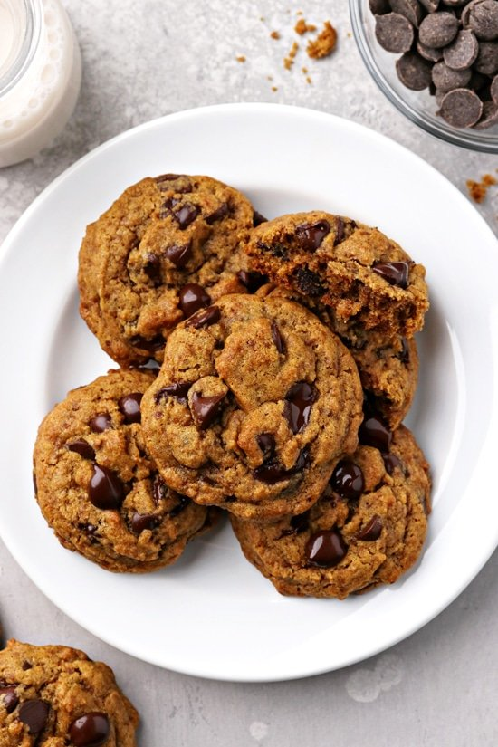 A plate filled with Dairy Free Pumpkin Cookies.